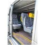 fretamento de van para funcionários preço Amparo